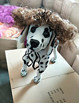 Chat Chien Tiares & Couronnes Perruque Vêtements pour Chien Elégant Rayures Gris Costume Pour les animaux domestiques