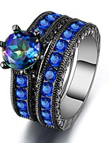 Women's Band Rings Multi-stone Cubic Zirconia Vintage Luxury Cubic Zirconia Circle Jewelry For Wedding Evening Party