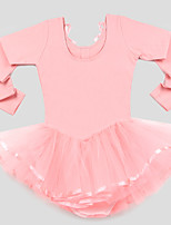 Kids' Dancewear Children's Training 100%Cotton Tulle Netting Long Sleeve