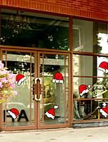 preiswerte -Druck Weihnachten Fenster-Aufkleber Stoff Fensterdekoration
