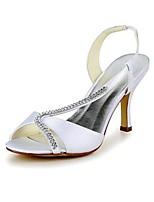 economico -Da donna Scarpe Seta Primavera Estate Decolleté scarpe da sposa A stiletto Punta aperta Punta tonda Occhio di pernice Con diamantini per