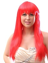 Women Synthetic Wig Capless Long Red Party Wig Halloween Wig Cosplay Wig Costume Wig