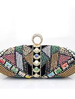 Недорогие -жен. Мешки Металл Вечерняя сумочка Кристаллы для Для праздника / вечеринки Все сезоны Черный Красный Тёмно-синий