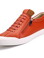 billige -Herrer Sko PU Forår Efterår Komfort Sneakers for Sort Orange Blå