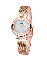 Women's Wrist watch Japanese Quartz Water Resistant / Water Proof Alloy Band Minimalist Silver Brown Rose Gold