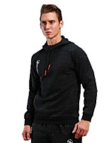Men's Running Jacket Long Sleeves Breathable Hoodie for Running/Jogging Fitness Polyster Black S M L XL XXL