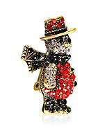 Муж. Жен. Броши Подарок Циркон Позолота Сплав Бижутерия Назначение Рождество Новый год