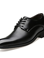 Men's Shoes Cowhide Spring Fall Formal Shoes Oxfords for Casual Black