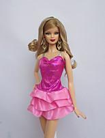 por Muñeca Barbie  Rosado Vestido por Chica de muñeca de juguete