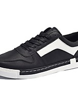 Недорогие -Для мужчин обувь Полиуретан Весна Осень Удобная обувь Кеды Назначение Повседневные Черный Коричневый Хаки