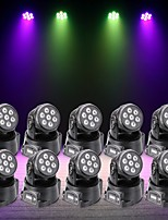 U'King 10pcs LED Stage Light / Spot Light DMX 512 Master-Slave Sound-Activated Auto 70 for Outdoor Party Stage Wedding Club Professional