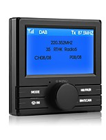 DAB Box with Bluetooth FM AUX output AUX cable not include  Using independently or With FM Car Radio Player DAB003