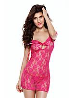 Women's Lace Lingerie Nightwear,Sexy Floral-Thin