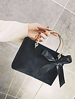 Women Bags Velvet Tote Sashes/ Ribbons Zipper for Casual Winter Fall Blue Black Dark Green Wine