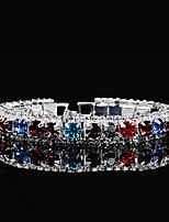 cheap -Women's Chain Bracelet Cubic Zirconia Rhinestone Classic Elegant Rhinestone Circle Jewelry For Wedding Evening Party
