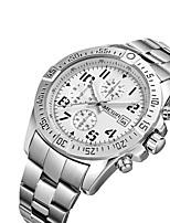 MEGIR Men's Casual Watch Fashion Watch Dress Watch Wrist watch Quartz Calendar / date / day Stainless Steel Band Casual Cool