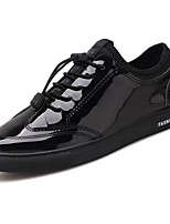 cheap -Men's Shoes Patent Leather Winter Comfort Sneakers for Athletic Black