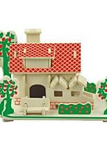 economico -Puzzle 3D Modellini di legno Kit per costruzioni Modello in legno Giocattoli Casa 3D Cucce Fashion Bambini vendita calda Classico Moda