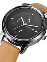 Women's Casual Watch Fashion Watch Wrist watch Chinese Quartz Calendar / date / day Casual Watch Leather Band Casual Elegant Black Brown