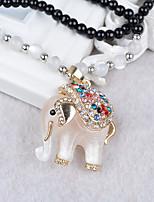 Жен. Ожерелья с подвесками Стразы Сплав Животные европейский Мода Бижутерия Назначение Повседневные
