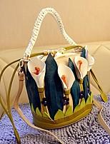 Women Bags All Season PU Tote Zipper for Casual Dark Blue