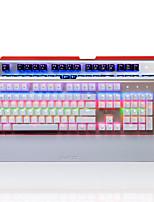 ajazz-ak49 teclado de la computadora rgb luz de fondo juego 104 - teclado usb eje azul