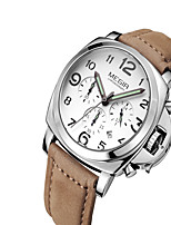 MEGIR Men's Casual Watch Fashion Watch Dress Watch Wrist watch Quartz Calendar / date / day Leather Band Casual Cool