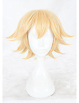 cheap -12inch Short Golden AOTU World Jin Wig Synthetic Anime Hair Cosplay Wigs CS-348A