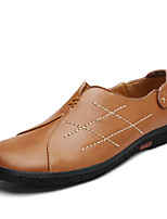 cheap -Men's Shoes Nappa Leather Spring Fall Comfort Loafers & Slip-Ons for Casual Office & Career Dark Brown Light Brown Black