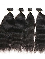 cheap -Remy Peruvian Natural Color Hair Weaves Natural Wave Hair Extensions Four-piece Suit Black