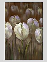 Peint à la main A fleurs/Botanique Moderne Un Panneau Toile Peinture à l'huile Hang-peint For Décoration d'intérieur
