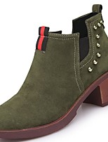 cheap -Women's Shoes PU Winter Comfort Fashion Boots Bootie Combat Boots Boots Round Toe Booties/Ankle Boots For Casual Green Brown Black