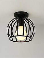 Industrial Vintage Ceiling Light Style Metal Cage Shade Art Painted Finish