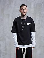 cheap -Men's Going out Sweatshirt Print Cotton