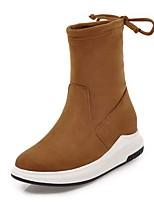 Недорогие -Для женщин Обувь Дерматин Зима Удобная обувь Ботинки Круглый носок Ботинки Назначение Для праздника Для вечеринки / ужина Черный Желтый