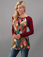 preiswerte -Damen Druck Street Schick Alltag Festtage T-shirt,Rundhalsausschnitt Polyester
