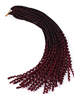 Goddess Faux Locs Curly Crochet Braids Hair 24 Roots Ombre Fauxlocs Braiding 22inch Dreadlocks Kinky Curly Wavy Hair Synthetic Hair 6-7pc/head