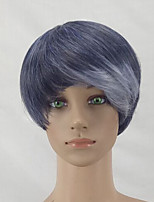 Women Synthetic Wig Capless Short Straight Silver Purple Pixie Cut Celebrity Wig Natural Wigs Costume Wig