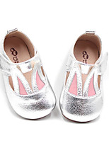 Boys' Shoes Real Leather Fall Winter Comfort Flower Girl Shoes Flats For Casual Silver