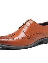 Для мужчин обувь Натуральная кожа Кожа Весна Лето Удобная обувь Обувь для дайвинга Туфли на шнуровке Драпировка Назначение Для вечеринки