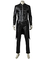cheap -Super Heroes Cosplay Costume Costume Movie Cosplay Gray & Black Top Pants Halloween Carnival Oktoberfest Masquerade leather