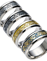 Men's Women's Band Rings Casual Stainless Jewelry For Daily Valentine