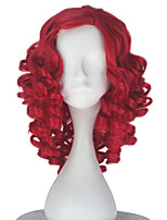 cheap -Synthetic Girl Short Curly Red Color Wig Role play movie Cosplay Costume Wigs Adult Halloween hair