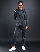 Women's Tracksuit Long Sleeves Breathable Tracksuit for Running/Jogging Fitness Polyster Black Grey S M L XL XXL