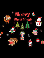 cheap -Animals Christmas Cartoon Wall Stickers Plane Wall Stickers Decorative Wall Stickers,Vinyl Material Home Decoration Wall Decal