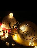 2.2M 20 Leds Hollow Metal Ball Led Drip Fairy String Lights Patio Decoration Light