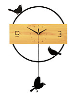 Transicional Animais Personagens Férias Inspiracional Amigos Desenho Animado Família Relógio de parede,Inovador Pássaro Interior/Exterior