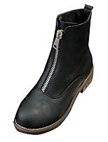 preiswerte -Damen Schuhe PU Winter Komfort Stiefel Runde Zehe Für Normal Schwarz Khaki
