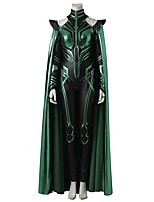 Super Heroes Cosplay Cosplay Costume Costume Movie Cosplay Gray & Black Leotard/Onesie Cloak Halloween Carnival Oktoberfest Masquerade