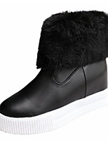 cheap -Women's Shoes PU Fall Winter Comfort Snow Boots Boots For Casual Black White